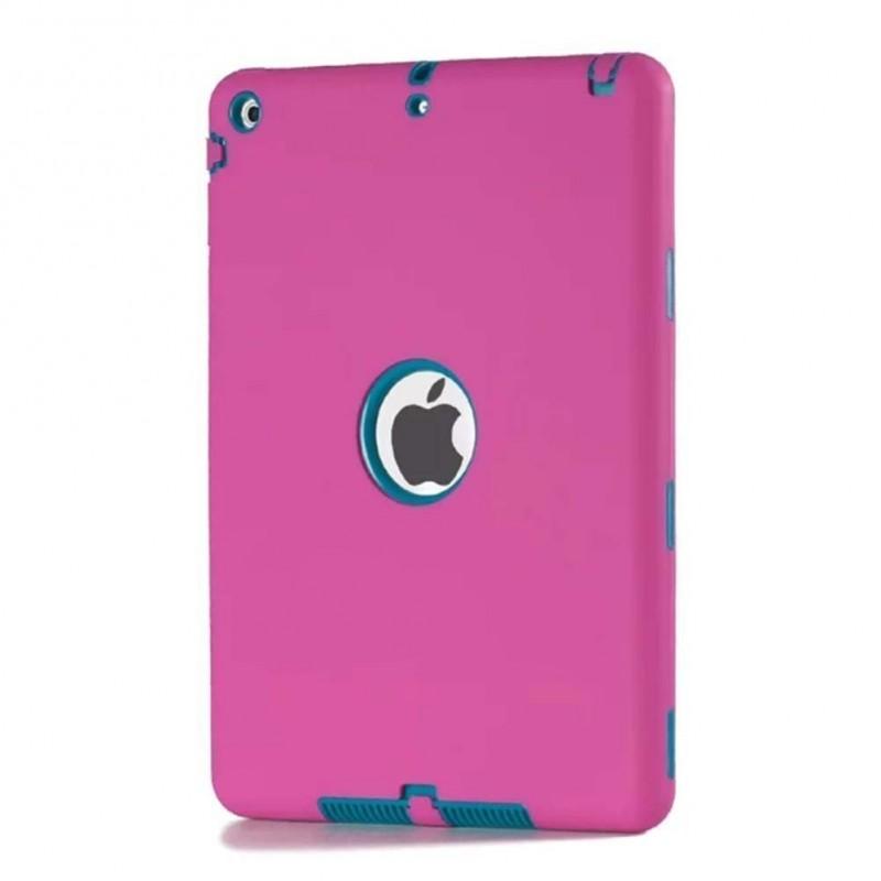 Étui Plan B Télécom Hybride iPad Air 2 Antichoc Rose & turquoise