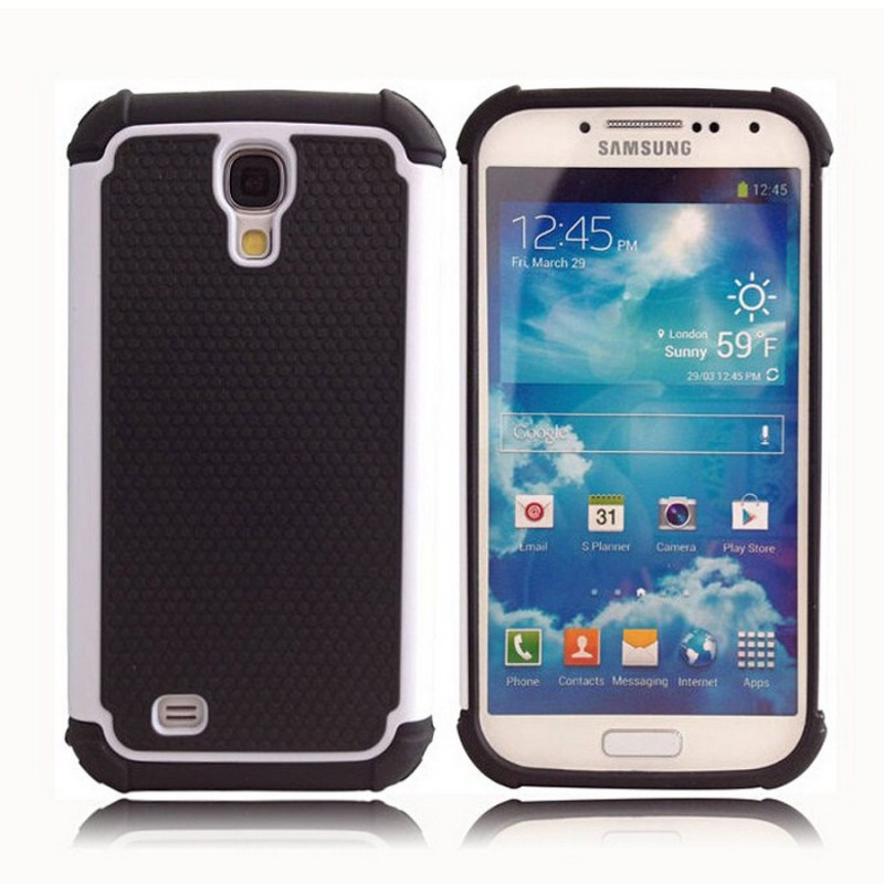 Etui Hybride 2 Pieces pour Samsung Galaxy S4 i9500 / BLANC