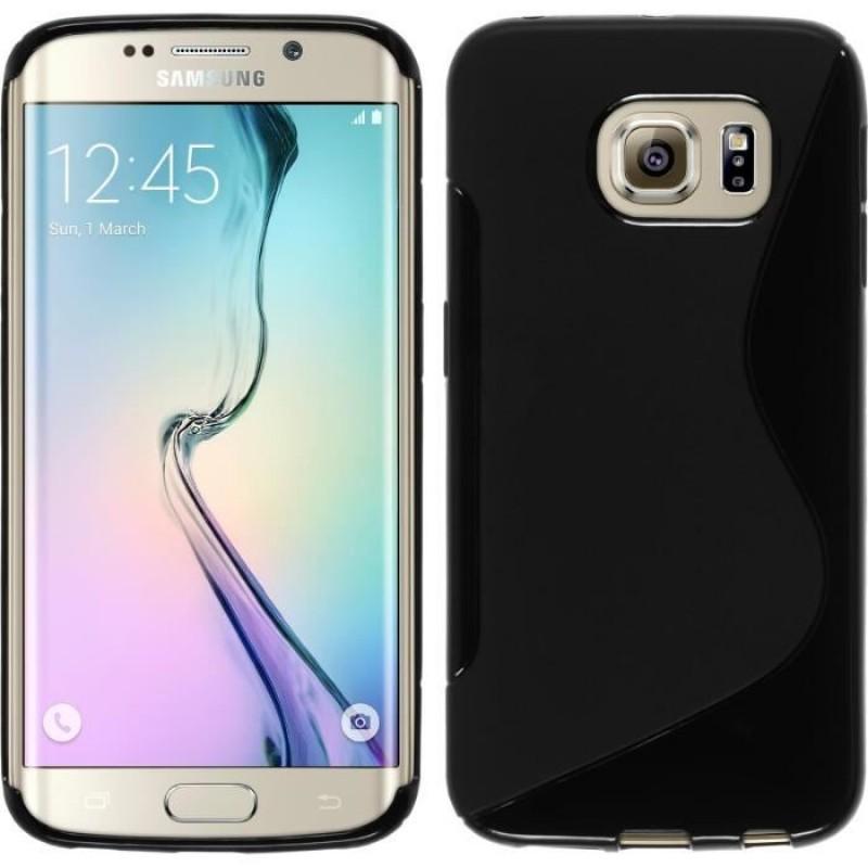Étui Plan B Télécom Galaxy S6 Edge G925 Coque souple Noir