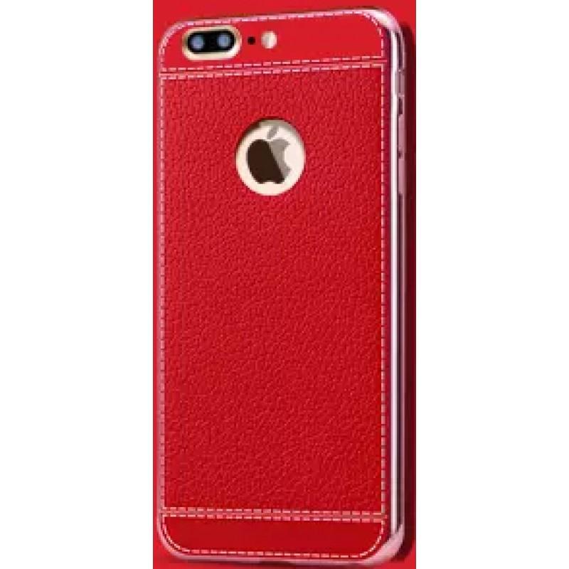 Étui Plan B Télécom Litchi iPhone 7 Plus Coque rigide Rouge