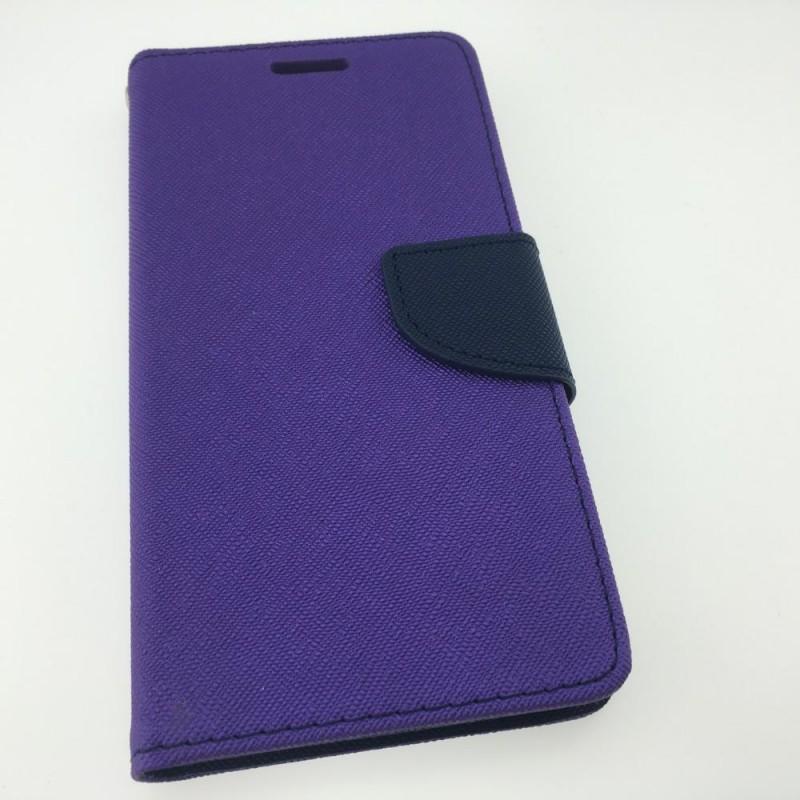 Étui Plan B Télécom Xperia XA Porte feuille Mauve et Bleu