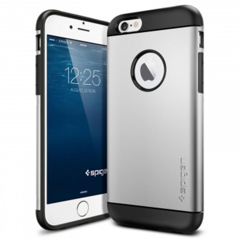 Étui Spigen Slim Armor iPhone 6 Antichoc Argent