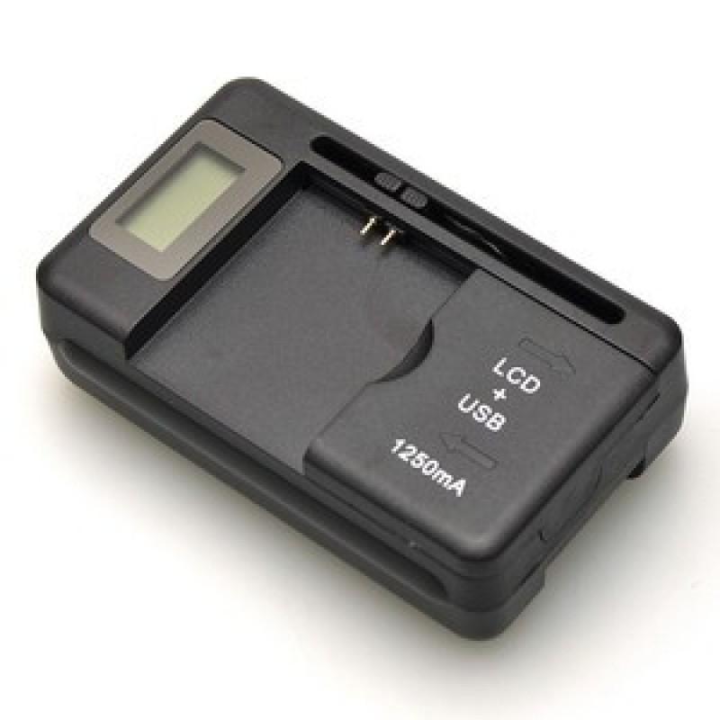 Chargeur Externe pour pile universelle AC 100-240V 4.2V/450MA Noir