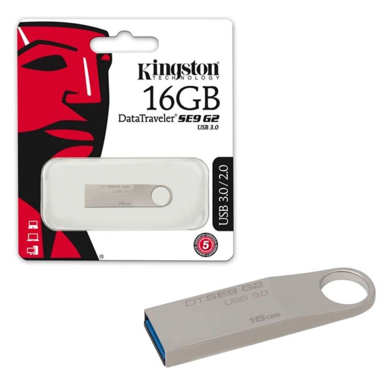 Carte mémoire Kingston Clé USB 16 Go Blanc