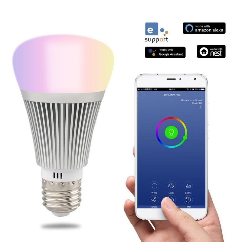 Domotique SONOFF Ampoule LED intelligente WiFi à intensité variable