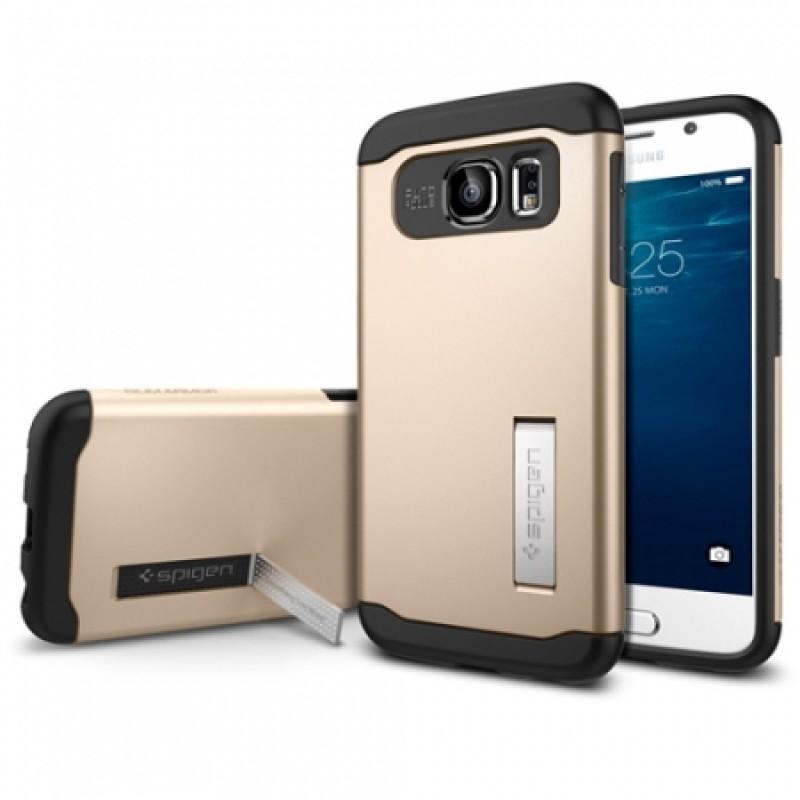Étui Spigen Slim Armor K Galaxy S6 G920 Antichoc Or