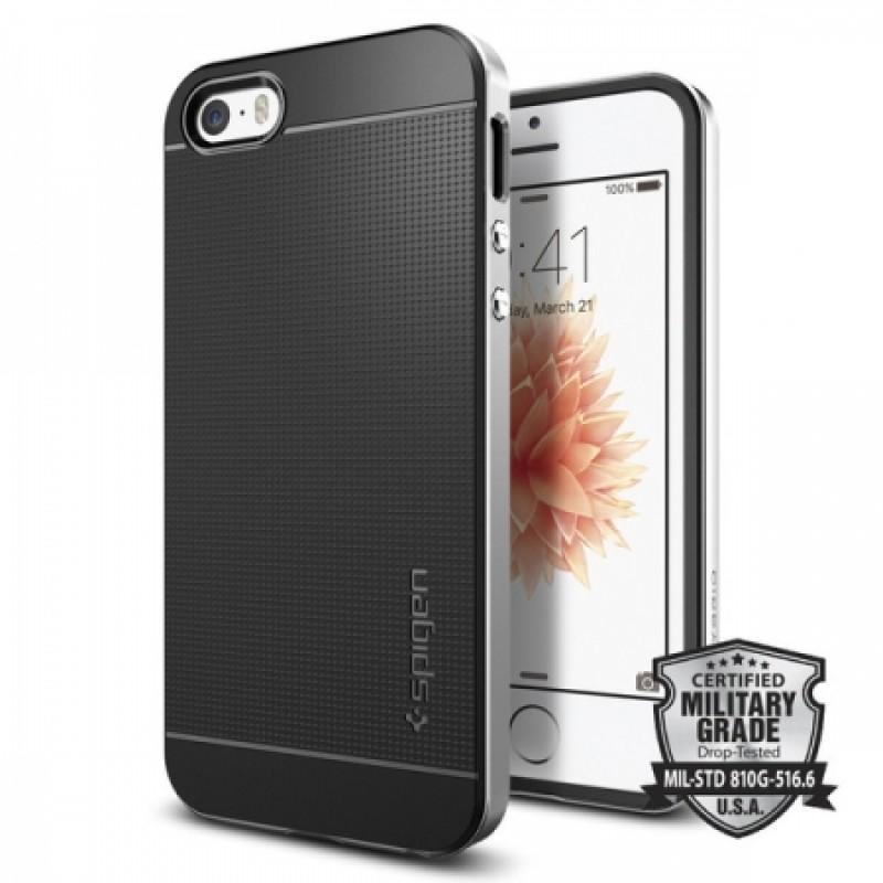 Étui Spigen Neo Hybrid iPhone 5 Satin Silver Gris