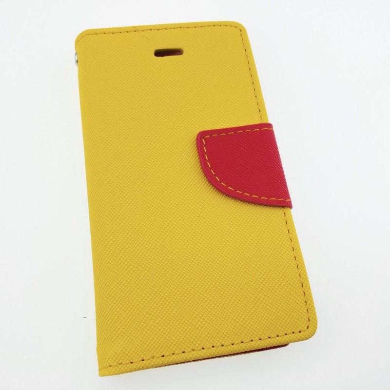Étui Plan B Télécom iPhone 6 Porte feuille Jaune et Fuschia