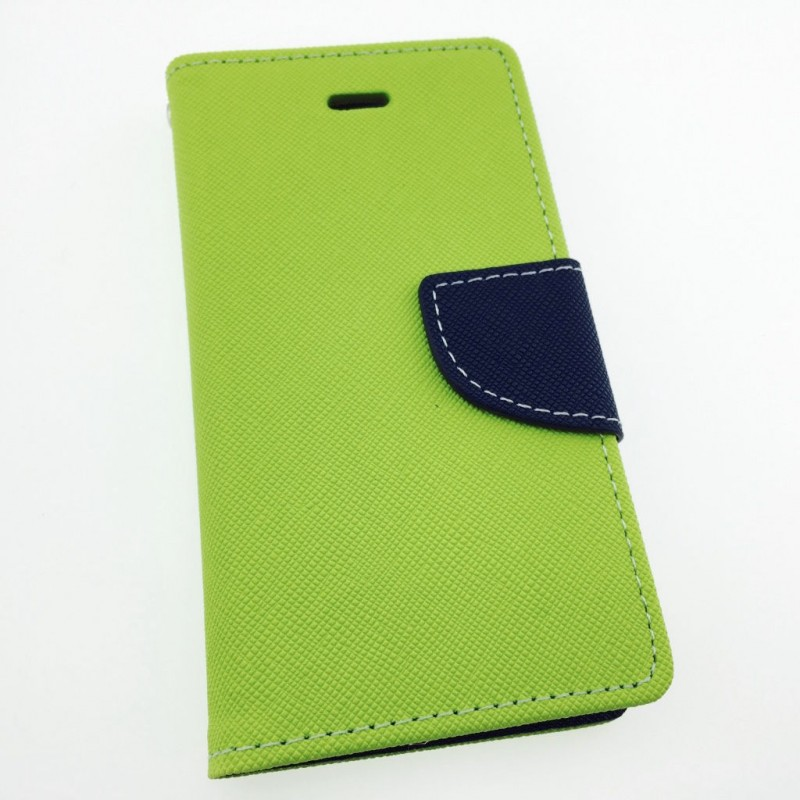 Étui Plan B Télécom Galaxy J3 (2016) Porte feuille Vert et Bleu